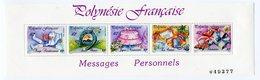 RC 12758 POLYNÉSIE BF N° 16 MESSAGES PERSONNELS BLOC FEUILLET NEUF ** - Blocchi & Foglietti