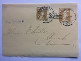 SWITZERLAND Newspaper Wrapper 1915 Geneve To Uznach - Imprime Cachet - Suisse
