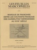 Marques De Franchise Entre Les Couvents Français Des Carmélites Thérésiennes Au XVIIIème Siècle - Philately And Postal History