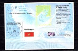 9900+ Mit Stempel IRC IAS CRI - International Reply Coupon - Antwortschein T41 Montenegro ME 20180215 AA - Montenegro