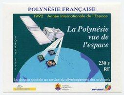 RC 12761 POLYNÉSIE BF N° 19 ANNÉE INTERNATIONALE DE L' ESPACE BLOC FEUILLET NEUF ** - Blocks & Sheetlets