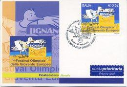 ITALIA - FDC MAXIMUM CARD 2005 - FESTIVAL OLIMPICO GIOVENTU' EUROPEA - ANNULLO SPECIALE - Maximumkarten (MC)