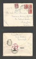 DENMARK. 1941 (2 June) Soro - China, Shanghai, Japanese Occupied Period. Via Nazi Germany + Siberia. Very Rare Last Trip - Non Classés