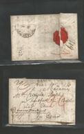 """DENMARK. 1826 (14 March) Copenhagen - Chur, Switzerland EL Full Contains Doble Live """"Danemark Par Hamburg"""" + """"FRANCO FRA - Danemark"""