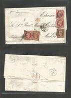 FRANCE. 1861 (28 Jan) Mexico DF - Paris (1 March) - Spain, Madrid (4 March) EL Full Text Forwarded To Paris Were Ported - Sin Clasificación