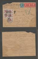 FRANCE - XX. 1926 (14 Aug) Paris - Hungary, Budapest (17 Aug) Official Multifkd Envelope Semense Issue + Slogan Cachet + - France