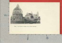 CARTOLINA NV ITALIA - PISE PISA - La Place Du Dome Et La Tour Penchee - 9 X 14 - Pisa