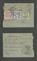 SAUDI ARABIA. 1953 (28 March) Mecque - Algeria, Constantine (9 April) Via Djeddah (30 March) Reverse Multifkd Registered - Saudi Arabia