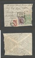 SAUDI ARABIA. 1953 (4 March) Mecque - Algeria, Constantine. Air Multifkd Envelope, Cache + Diff Stamps All Applied On Fr - Saudi Arabia