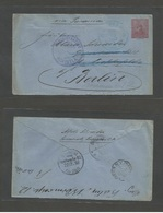 SALVADOR, EL. 1893 (23 Nov) Sonsonate - Germany, Berlin (22 Dec 93) Via NYC (11 Dec) And Acajntla (28 Nov) 22c Red / Blu - El Salvador
