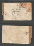 MALAYSIA. 1941 (16 May) Kuala Lumpur - PERU, Chepen, Pacamayo (17 July) 16c Rate Fkd Envelope, Singapore Censorship With - Malaysia (1964-...)