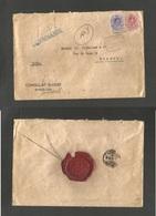 E-ALFONSO XIII. 1922 (13 Sept) 278º, 273º Barcelona - Suiza. Lucerna (15 Sept) Consulado Suizo. Escaso Sobre Certificado - Spain
