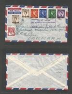 BAHRAIN. C. 1960. GPO - Denmark, Artus. Mixed Kingdoms / Kings / Queen Elisabeth II Ovprinted Issue + Local King. Airmai - Bahrain (1965-...)