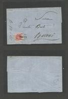 "VENEZUELA. C. 1873. Maracaibo - Boconó. E. Fkd 1 Real Red Shield Issue. Revalidaed Ovptd. Good Margin, Tied. Oval ""Franc - Venezuela"