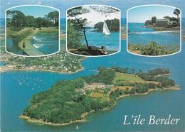 Cartes Géographiques - 56 L'ILE BERDER - Le Golfe Du Morbihan - LARMOR-BADEN - Cpm - écrite - - Carte Geografiche