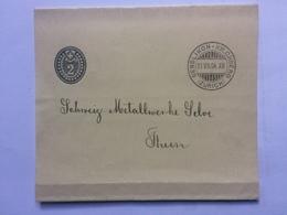 SWITZERLAND Newspaper Wrapper 1904 Bendlikon Kilchberg To Thon - 1882-1906 Stemmi, Helvetia Verticalmente & UPU