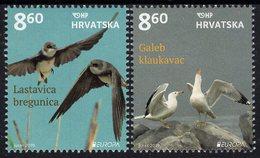 Croatia - 2019 - Europa CEPT - National Birds - Mint Stamp Set - Croatia