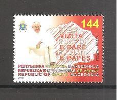 NORTH MACEDONIA 2019,,,MAZEDONIEN, PAPA VISIT,RELIGION,MNH - Macedonia