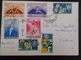 San Marin Carte De 1955 Pour Torino - Saint-Marin