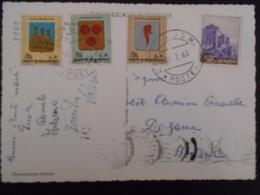 San Marin Carte De 1968 Pour Novara - Lettres & Documents