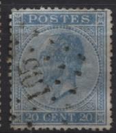 N°18 Obl. LP 105 ECAUSSINES ECAUSSINNES - 1865-1866 Profil Gauche
