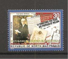NORTH MACEDONIA,,100 Years Anniversary Paris Peace Conference Treaty Of Versailles France WW1,MNH - Macedonia