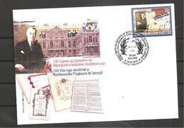 NORTH MACEDONIA,,100 Years Anniversary Paris Peace Conference Treaty Of Versailles France WW1,FDC - Macedonia