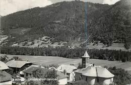 - Haute Savoie  -ref-C355- Riviere Enverse - Vue Sur Quartier De L Eglise - Carte Bon Etat - - Otros Municipios