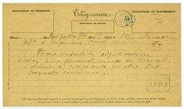 RRR ALGERIE TELEGRAMME 1896 TELEGRAMME AVEC CACHET TELEGRAPHIQUE DE TIZI-OUZOU SUPERBE - 1877-1920: Période Semi Moderne