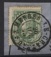N°30 Obl. Dc MERBES-LE-CHATEAU 1873 S/fgt - 1869-1883 Léopold II