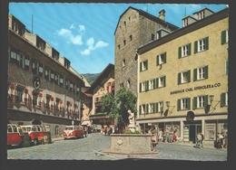 Zell Am See - Die Malerische Bergstadt - Stadtplatz - 3x Vintage VW Transporter Bus - Bankhaus - 1965 - Zell Am See