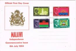 32809. Carta F.D.C. MALAWI 1964. Independence Conmemorative - Malawi (1964-...)