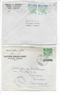 Lebanon 2 Covers Sent To Denmark. H-651 - Lebanon
