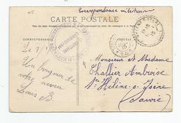 Marcophilie - 88 Vosges Au Valtin Cachet 1 Regiment D'artillerie De Montagne 1ere Batterie 1915 Pour Savoie 73 - Marcophilie (Lettres)