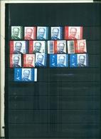 BELGIQUE SERIE COURANTE ROI ALBERT II 15 VAL NEUFS A PARTIR DE 2 EUROS - 1993-.. MVTM