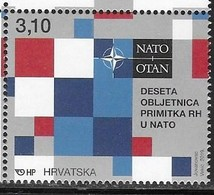 CROATIA , 2019, MNH,NATO, MILITARY ALLIANCES,1v - NATO