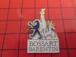 812b Pin's Pins / Beau Et Rare / THEME : AUTOMOBILES / GARAGE PEUGEOT BOSSART BARENTIN STATUE DE LA LIBERTE - Peugeot