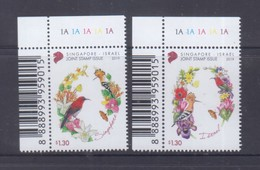 Singapore 2019 Joint Issue With Israel, Birds, Butterflies, Orchids Etc MNH - Emissioni Congiunte