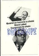 """Giscard D'Estaing Et Raymond Barre. Publicité Pour """"Black Label"""". N° De Tirage: 729/1000. Création Rostenne - Personnages"""
