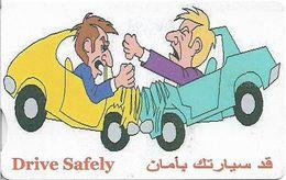 Syria - STE - Easycomm - Chip - Drive Safely, Crash, 350S.P, Cn. SLS 08 01, Used - Syria