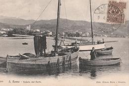 Cartolina - Postcard /  Viaggiata -sent /   San Remo, Veduta Dal Porto. - Imperia