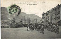 MONACO .... LA REVUE DES CARABINIERS PAR SON EXCELLENCE M LE GOUVERNEUR - Monaco