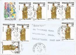 Cote D'Ivoire 2007 Abidjan Chief King Akan UPU Cover - Côte D'Ivoire (1960-...)
