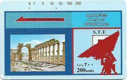 Syria - STE - Tamura - Old Temple, 200U, Used - Syria
