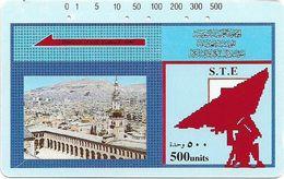 Syria - STE - Tamura - Townscape View, 500U, Used - Syria