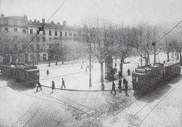 TRANSPORT TRAMWAY DE SAINT-ETIENNE 42 LOIRE 1/06 PLACE DE L'HOTEL DE VILLE VERS 1925 MOTRICES H - Tramways