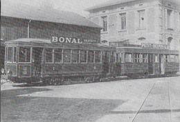TRANSPORT TRAMWAY DE SAINT-ETIENNE 42 LOIRE 1/07 BUREAUX ET COMPAGNIE CFVE MOTRICE R EX NANCY REMORQUE M - Tramways