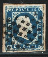 Sardegna 1851 Sass.2 O/Used F - Sardinia
