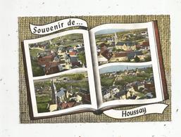 Cp, 41 , Souvenir De HOUSSAY ,  Multi Vues, Vierge, Ed. Lapie - France