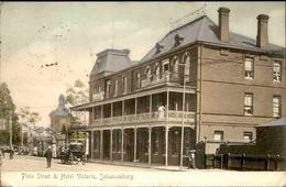 AFRIQUE DU SUD - Carte Postale - Johannesburg - Plein Street And Hôtel Victoria  - L 30049 - Afrique Du Sud
